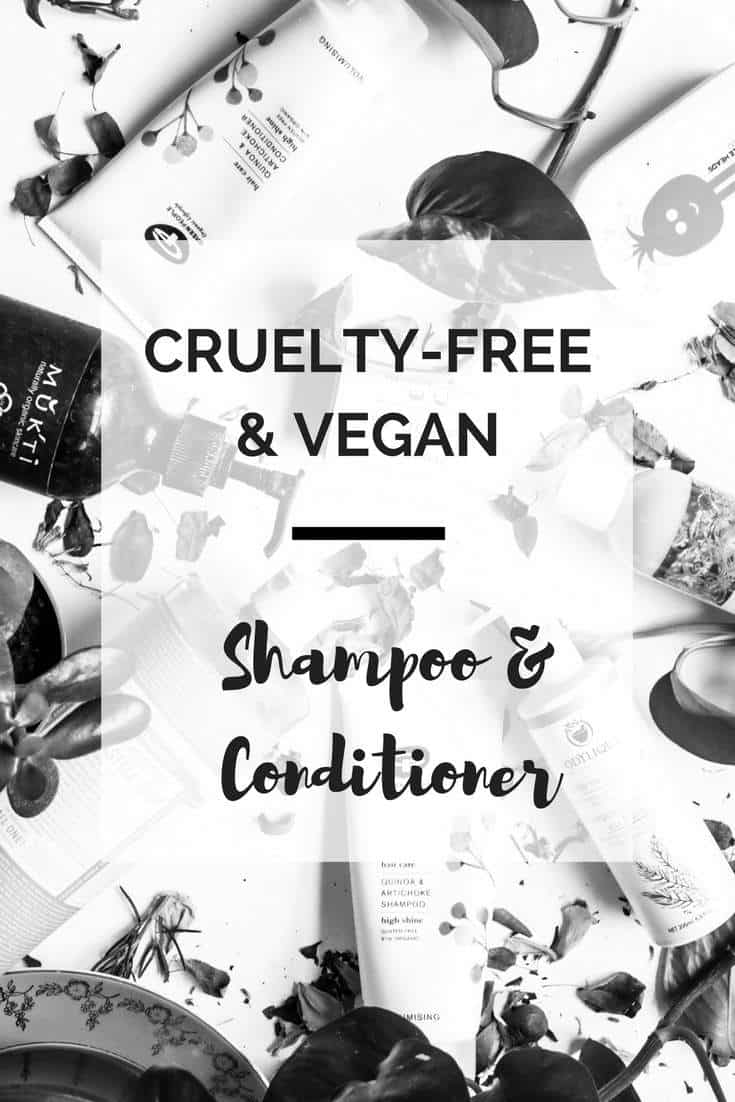 Our list of the best vegan and cruelty-free shampoos and conditioners we've been able to find so far #crueltyfree #vegan #sustainable