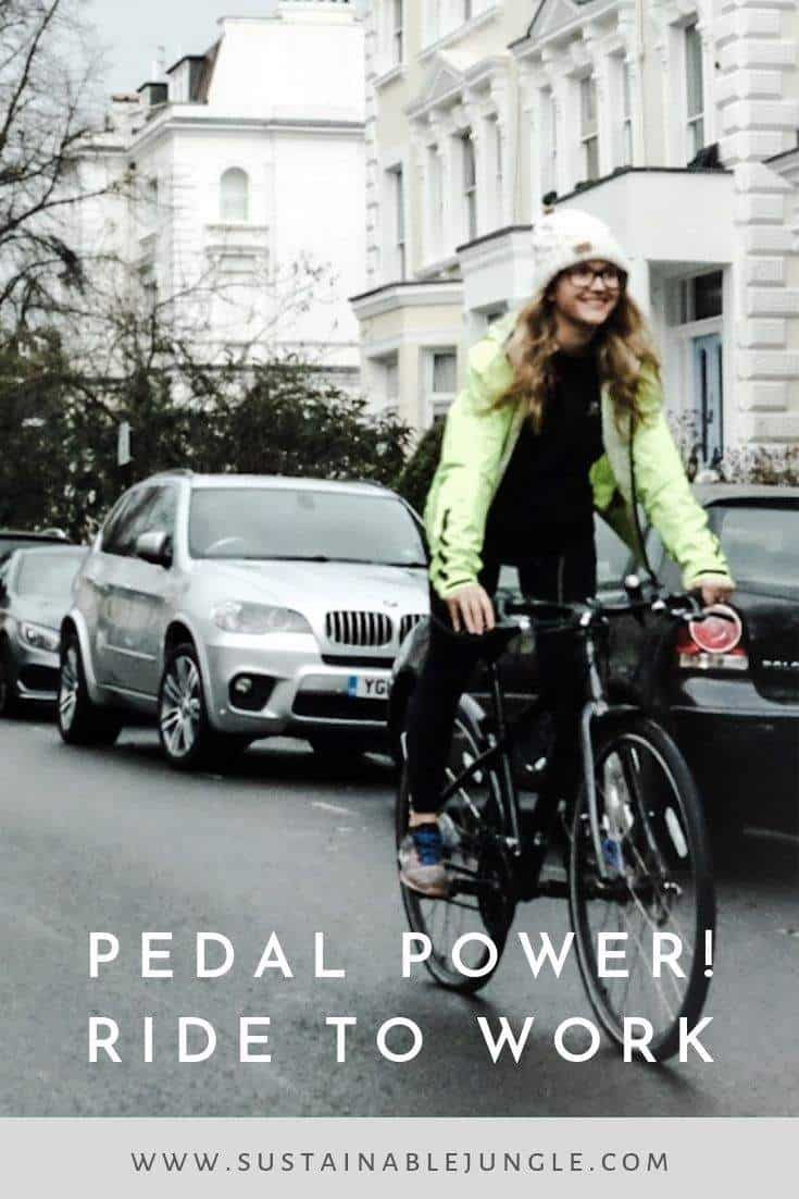Simple but compelling reasons to ride to work! #ridetowork #climateaction #pedalpower