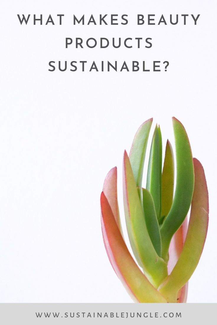 What makes beauty products sustainable? #ethicalbeauty #sustainableliving #beauty #ethicalconsumer