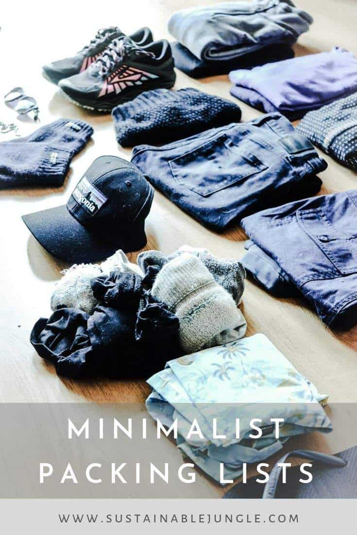 Minimalist Packing Lists for 6 months around the world #minimalist #packinglist #travel #ecotravel