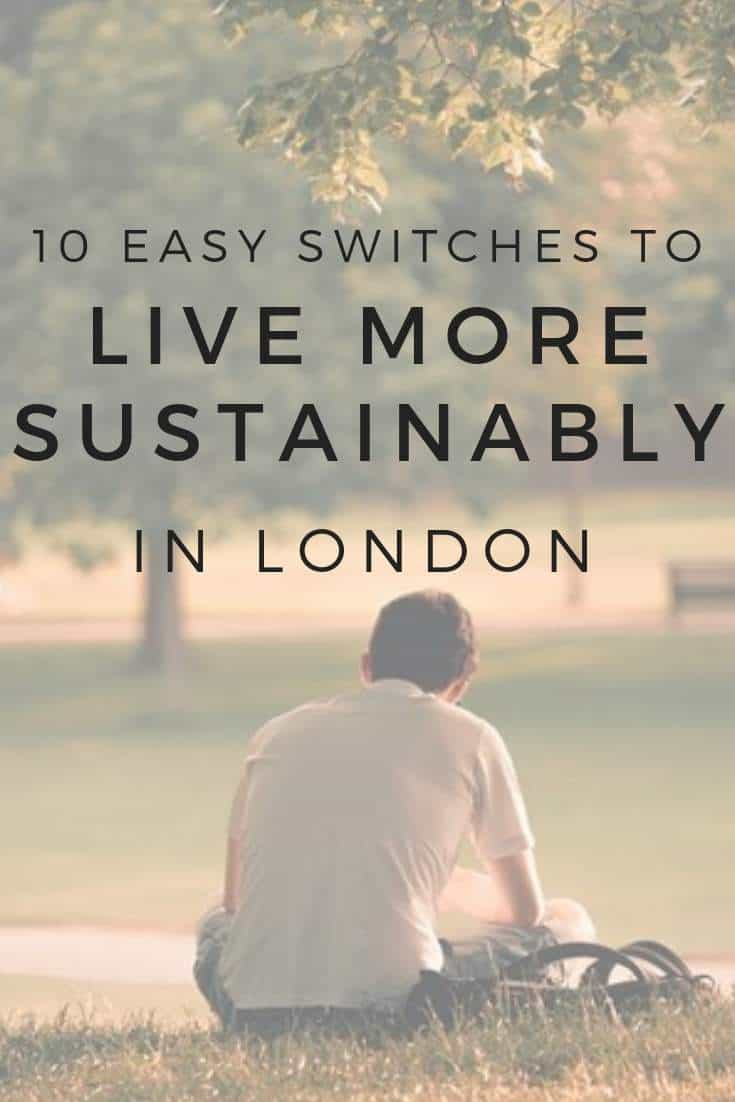10 Easy Switches To Live More Sustainably In London: What We Learnt In A Year #sustainableliving #london #sustainablejungle