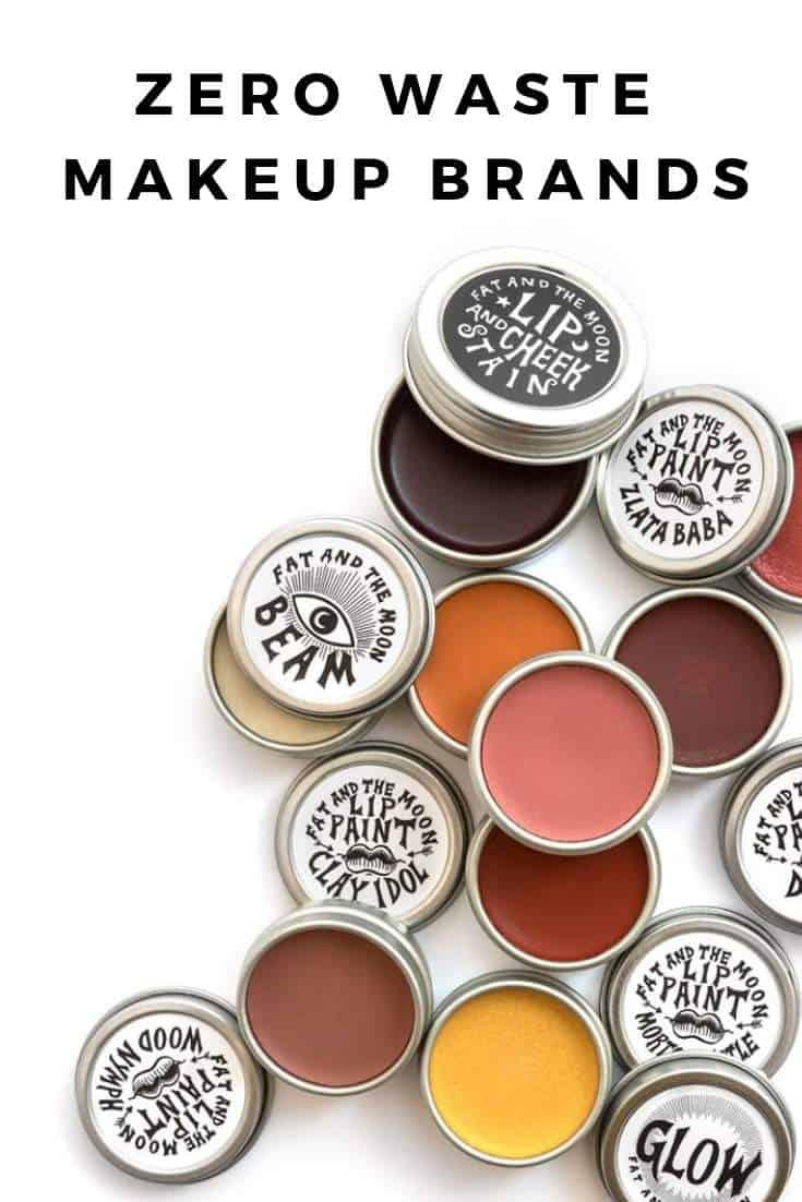 7 Zero Waste Makeup Brands #zerowaste #makeup #plasticfree