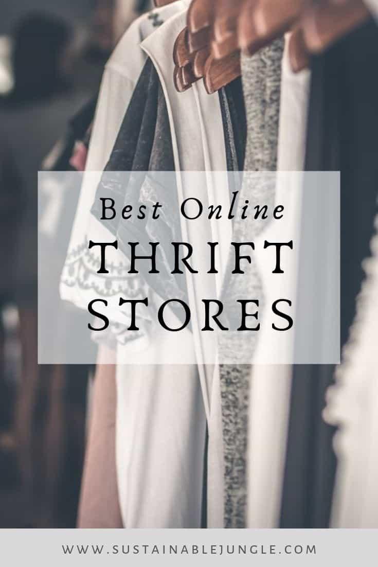 Best Online Thrift Stores #zerowaste #sustainablefashion #thriftstore
