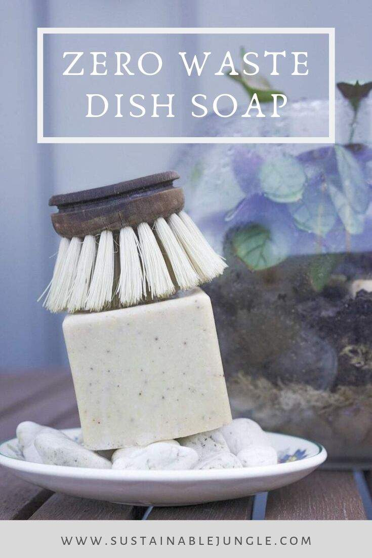 8 Zero Waste Dish Soap Options To Keep Both Your Plates & The Planet Clean #zerowaste #sustainableliving