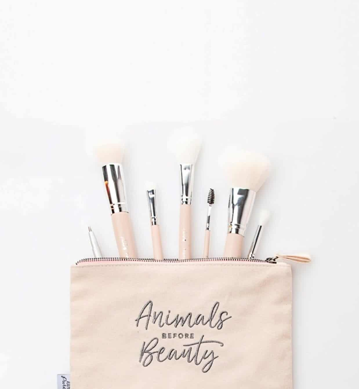 Vegan Makeup Brush Brands For A Flawlessly Fur Free Face Image by 100% Pure #veganmakeup #makeupbrush