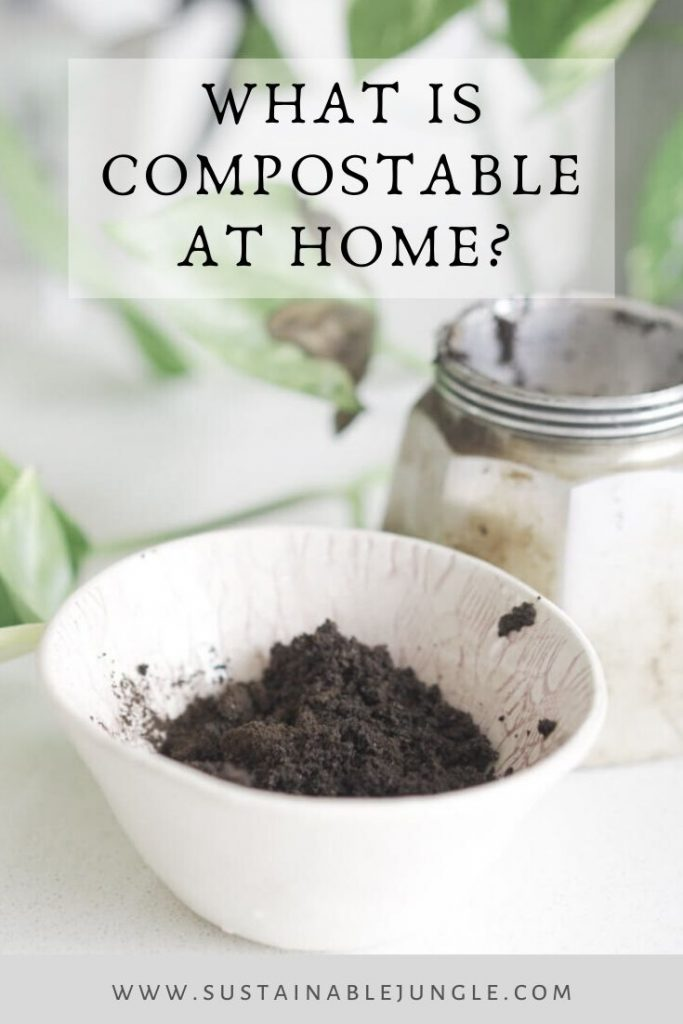 What is compostable at home? We've broken down this list into sections based on where you might find them in your home. Then we've broken down these sections again into brown and green matter, so you know you're getting the right balance. #homecompostable #zerowaste #sustainablejungle