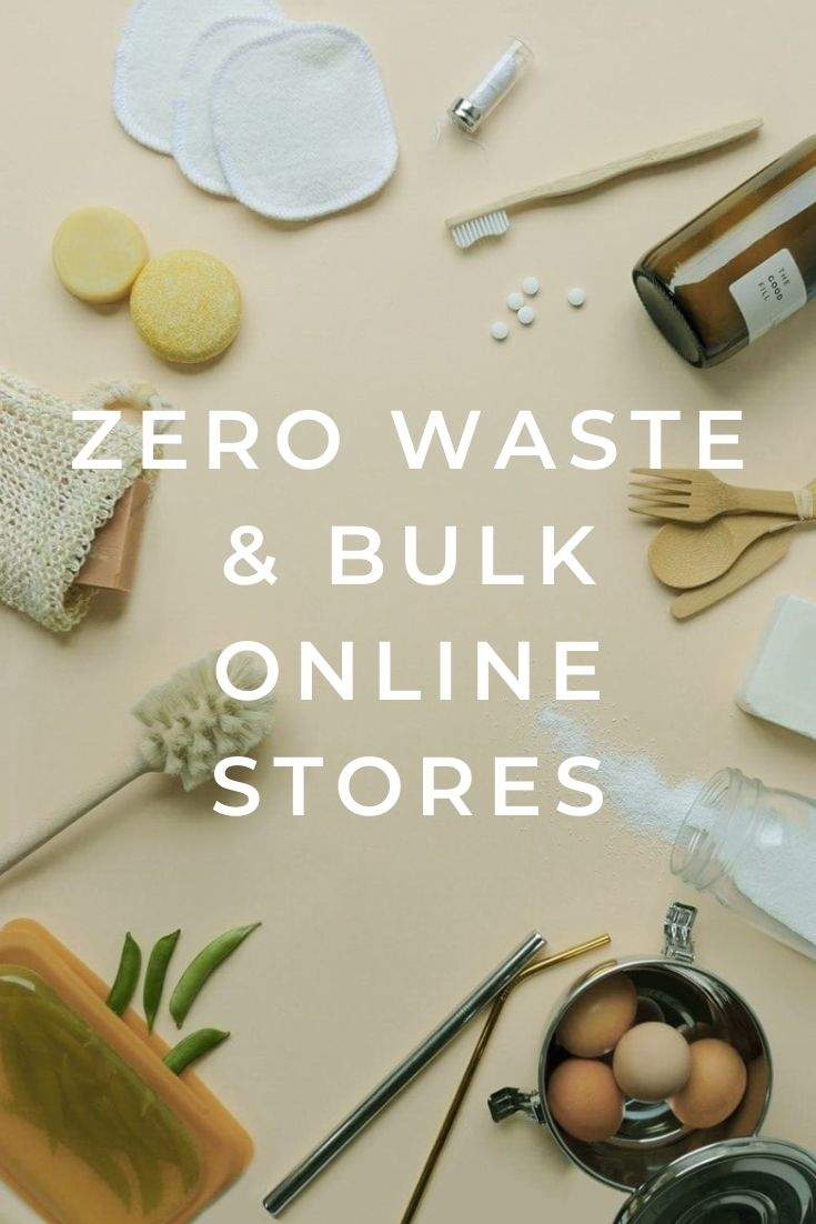 Best Zero Waste & Bulk Online Stores For All Your Package Free Shopping Needs Image by by The Good Fill #zerowaste #onlinestores