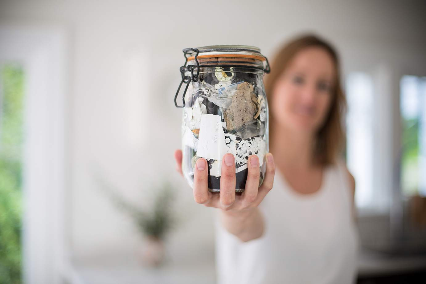 What is Sustainable Living #sustainableliving Bea Johnson and her Trash Jar – Image Credit European Sustainable Development Week