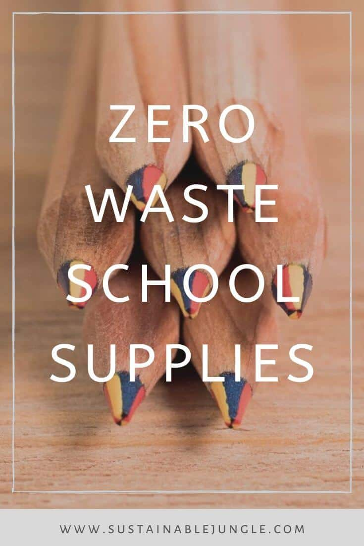 Here are some zero and low waste options for parents and adults who are aiming to keep the office and school sustainable Image by Sprout World #zerowaste #ecofriendly #schoolsupplies