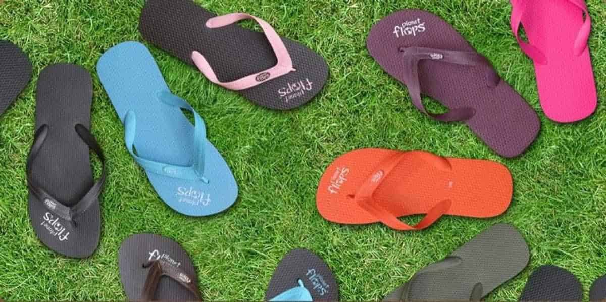 17 Flippin Fab, Eco Friendly and Recycled Flip Flops Image by Planet Flops #recycledflipflops #ecofriendlyflipflops #ethicalflipflops #sustainableflipflips