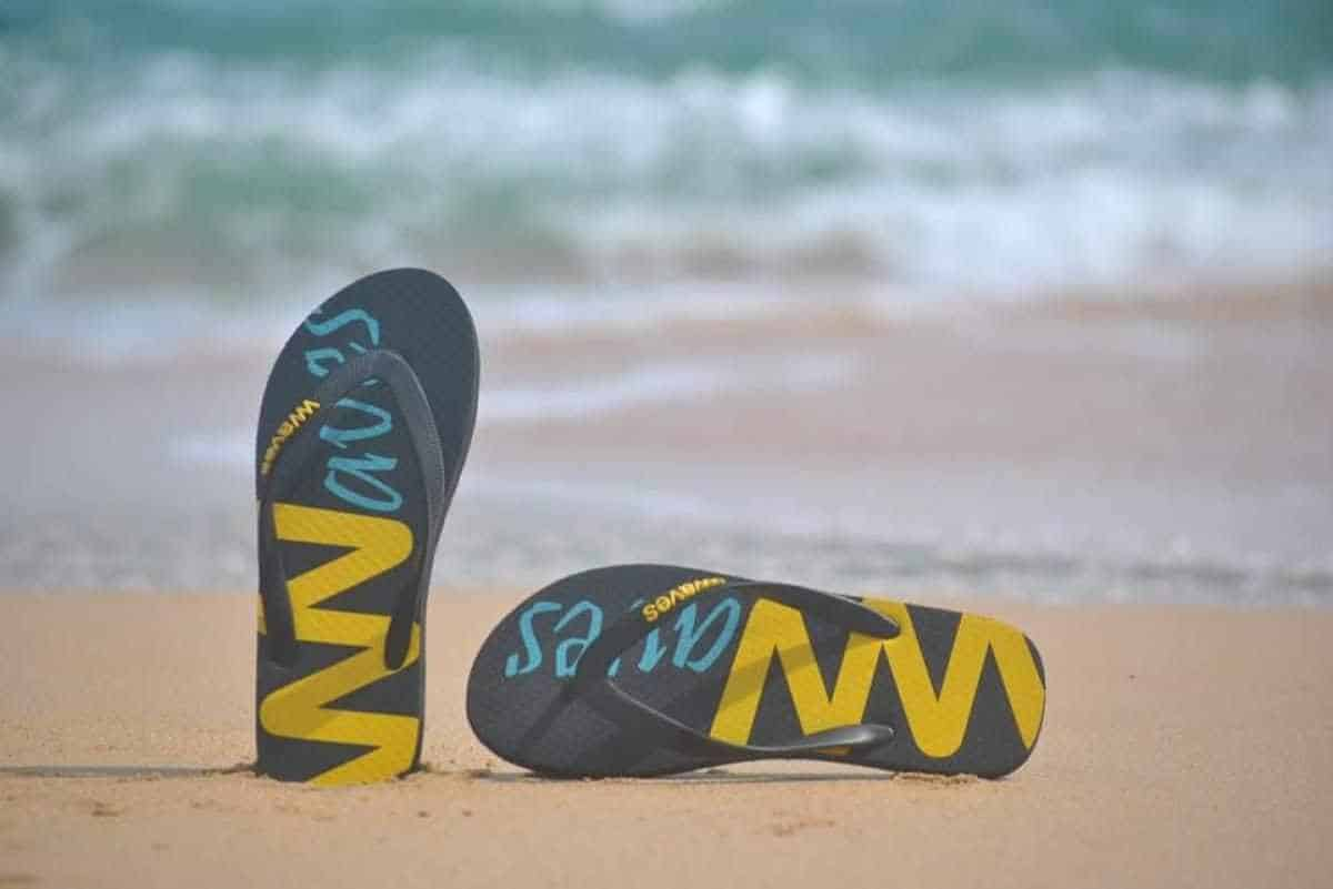 17 Flippin Fab, Eco Friendly and Recycled Flip Flops Image by Waves #recycledflipflops #ecofriendlyflipflops #ethicalflipflops #sustainableflipflips