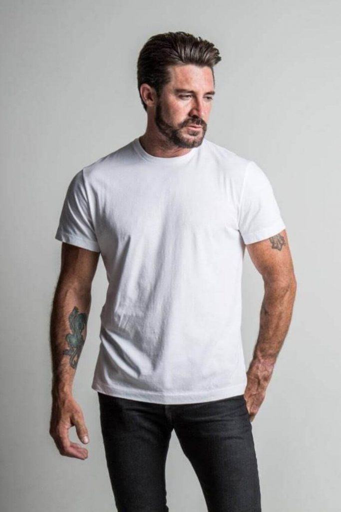 For many guys, just shopping can be enough torture without all the added pressure of working out where to get sustainable mens clothing. Here we've done the hard work for you... Image by The Classic T-Shirt Company #sustainablemensclothing #ethicalmensclothing #sustainablejungle