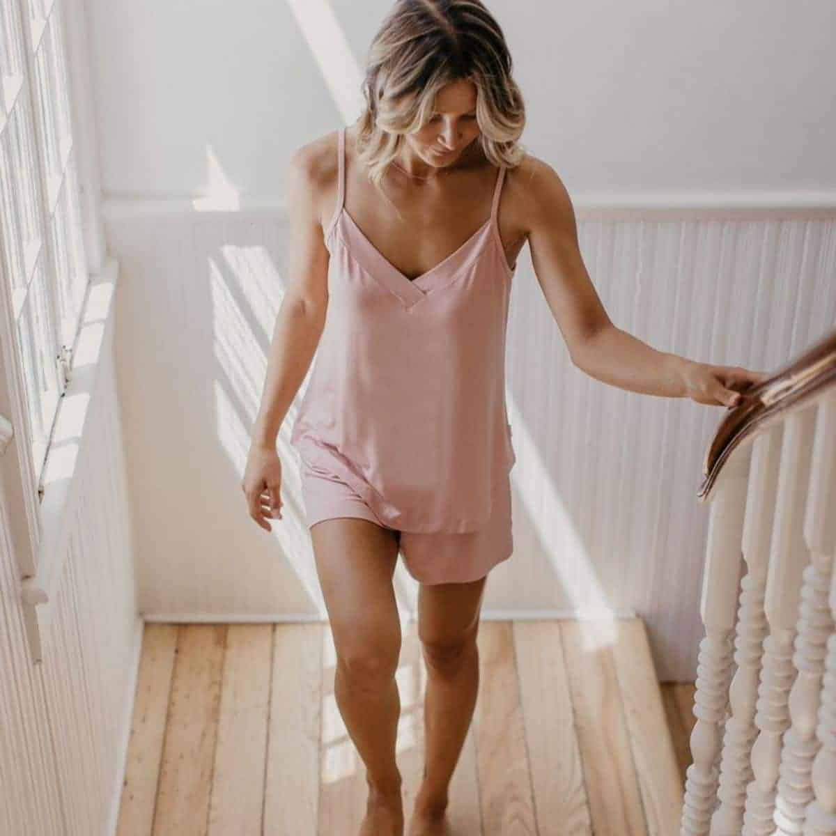 While some of you may prefer to sleep in your sustainable skivvies and others in some luxe lingerie, sometimes you just need a good old fashioned pair of lounge PJs Image by Boody #fairtradepajamas #sustainablesleepwear