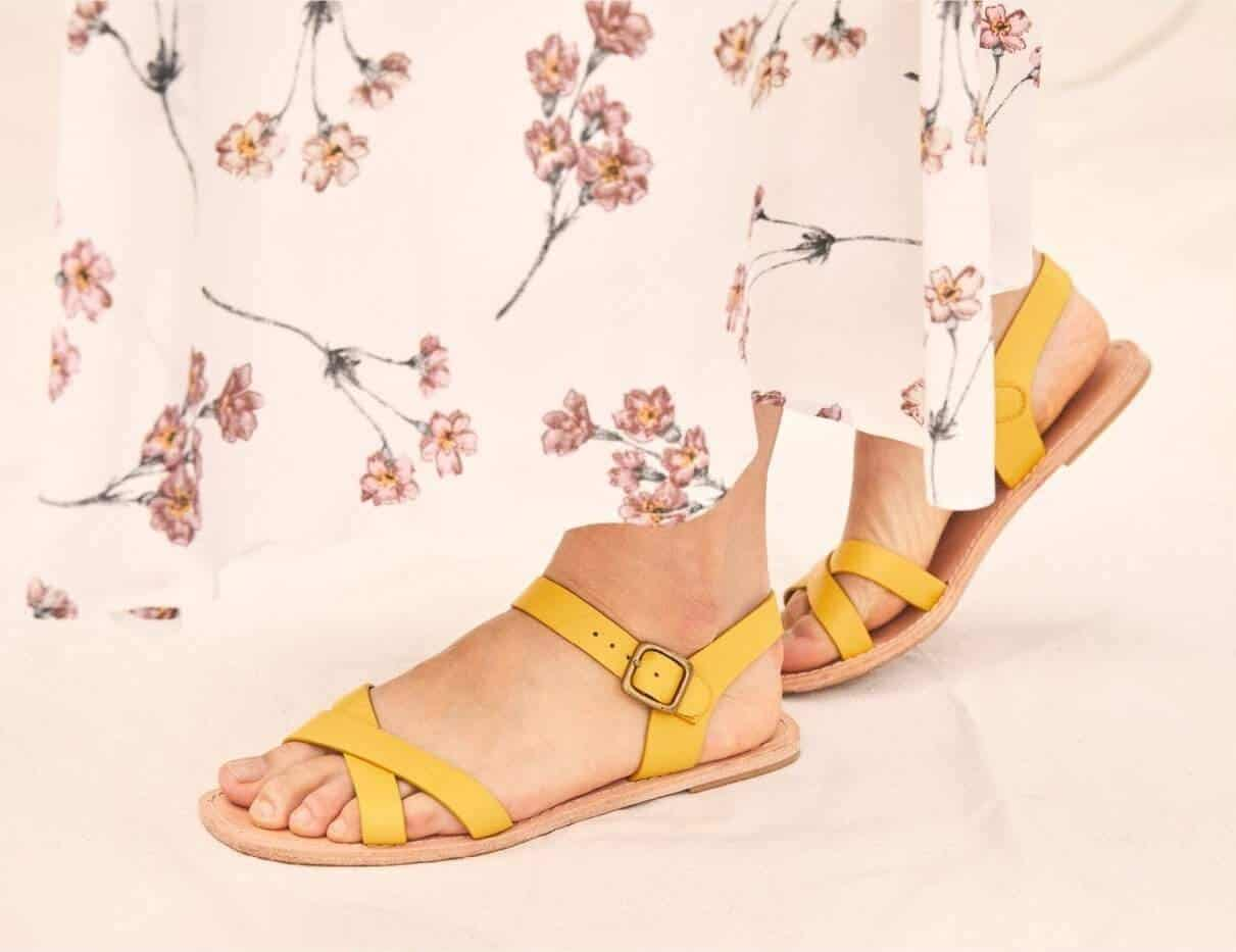 In the spirit of walking towards a greener future, we've been hunting for ethical and eco friendly sandals Image by Christy Dawn #ecofriendlysandals #ethicalfashion