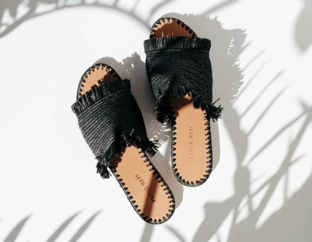 In the spirit of walking towards a greener future, we've been hunting for ethical and eco friendly sandals Image by Proud Mary #ecofriendlysandals #ethicalfashion