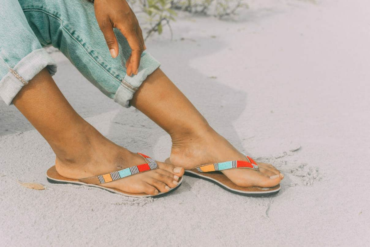 In the spirit of walking towards a greener future, we've been hunting for ethical and eco friendly sandals Image by Swahili Coast Design #ecofriendlysandals #ethicalfashion