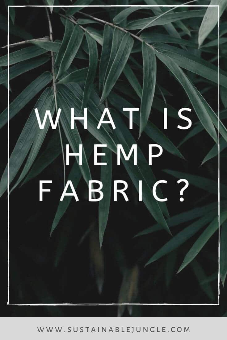 Hemp fabric is hip and happening. You've probably only been hearing about it recently, but hemp fiber has been around FOREVER Photo by Qusv Yang on Unsplash #hemp #sustainablefashion