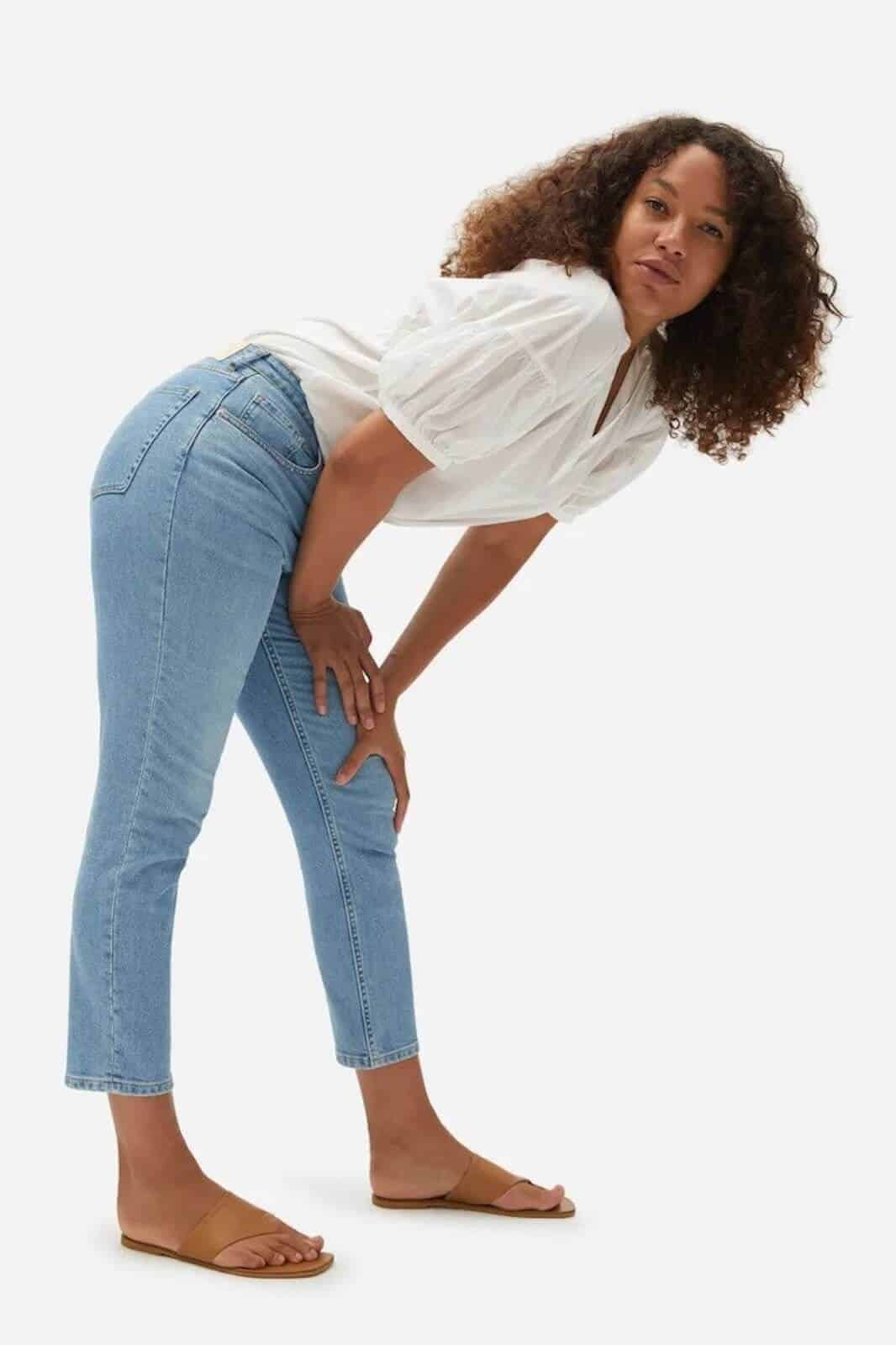 Green is the new blue! For sustainable ethical jeans that is. We're so impressed with these brands Image by Everlane #ethicaljeans #sustainablejungle