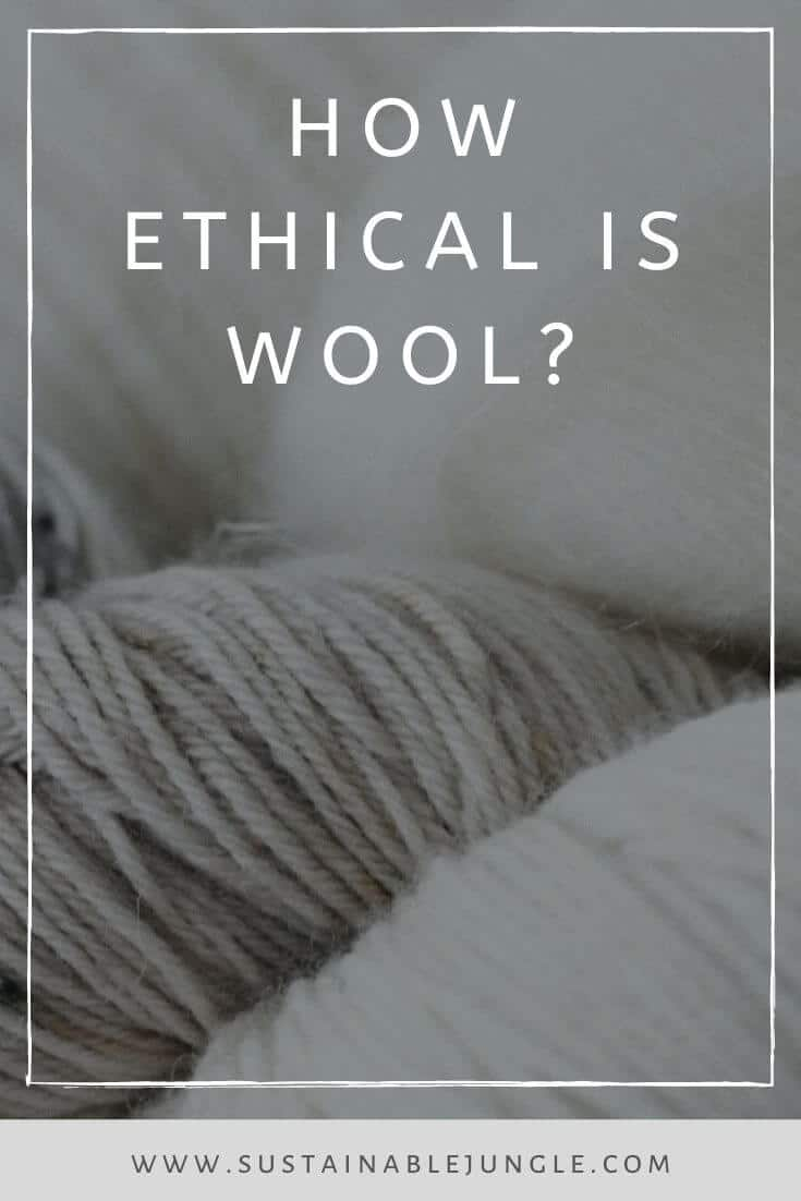 While most fabrics that make up the world of sustainable fashion deserve a bit of scrutiny, wool not only calls into question its impact on the environment and laborers, but its impact on wool-producing animals Photo by Nynne Schrøder on Unsplash #sustainablefashion #ethicalwool