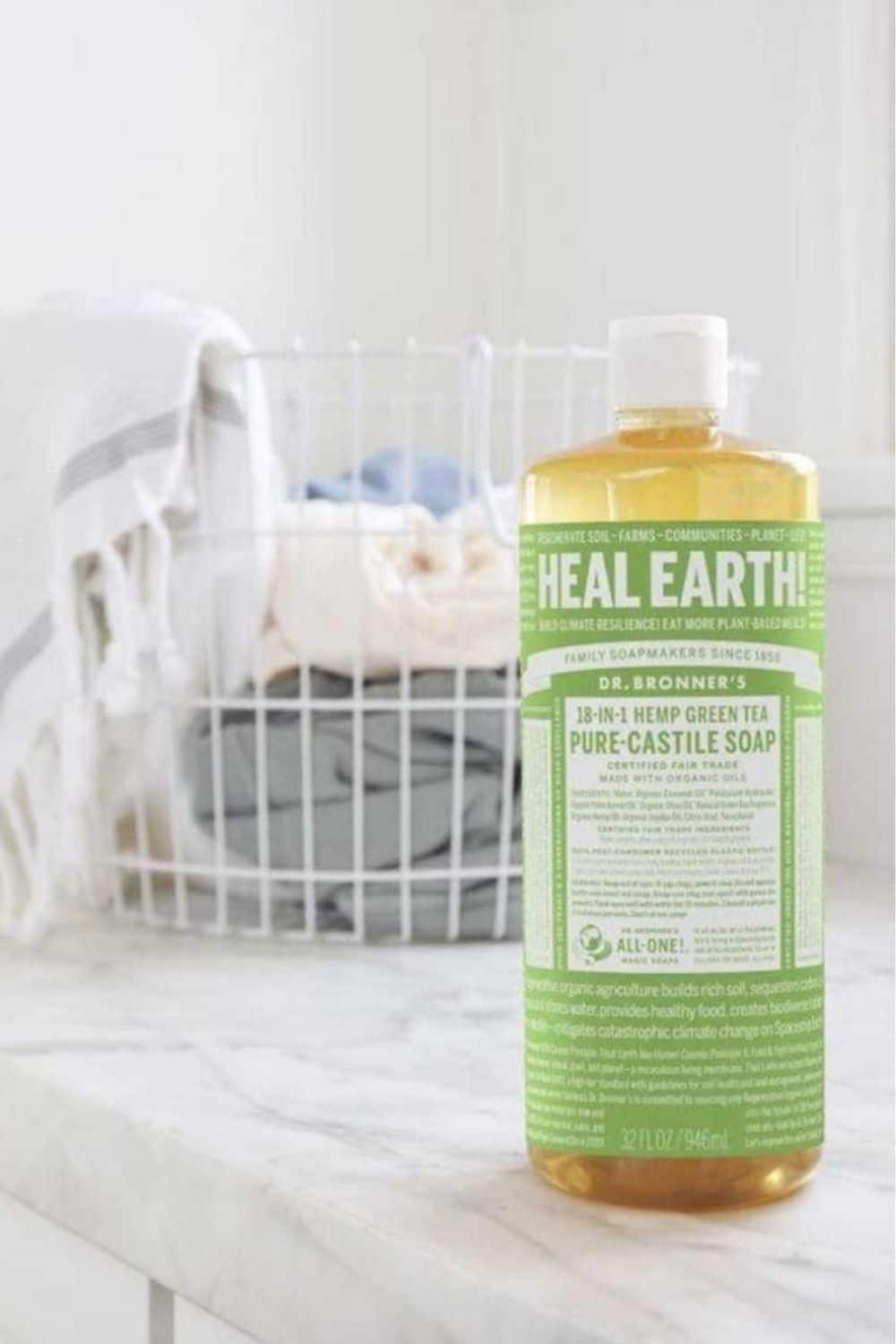Zero Waste Laundry Detergent Image by Dr Bronners #zerowastelaundrydetegent #zerowastelaundry #sustainablejungle