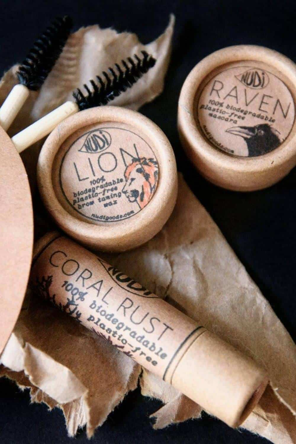 Finding zero waste makeup alternatives is no easy feat, because traditional containers are difficult (at best) to recycle, being often comprised of composite materials and components Image by Nudi Goods #zerowastemakeup