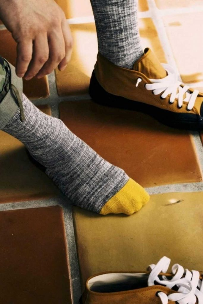 Leave Only Footprints with Sustainable and Eco Friendly Socks Image by Outerknown #ecofriendlysocks #sustainablesocks #sustainablejungle