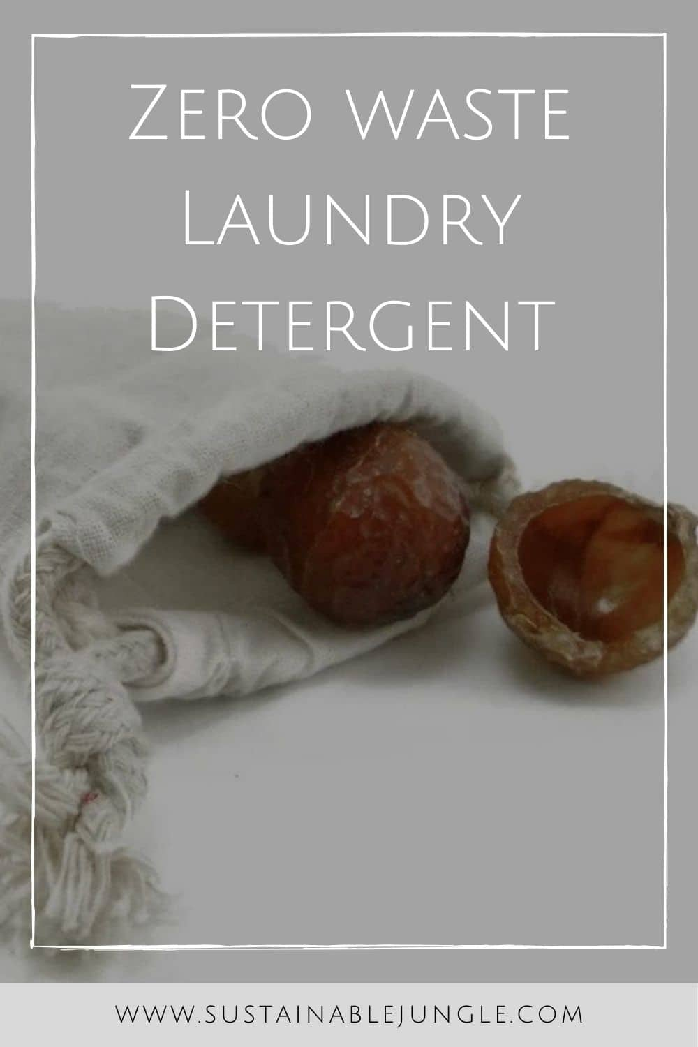 Zero Waste Laundry Detergent Image by Eco Nuts #zerowastelaundrydetegent #zerowastelaundry #sustainablejungle