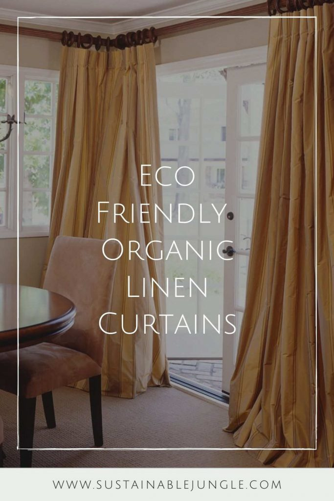 Let's block out that bright morning sun and explore some of our favorite organic and eco friendly curtains Image by American Custom Drapes #organiclinencurtains #ecofriendlycurtains #sustainablejungle