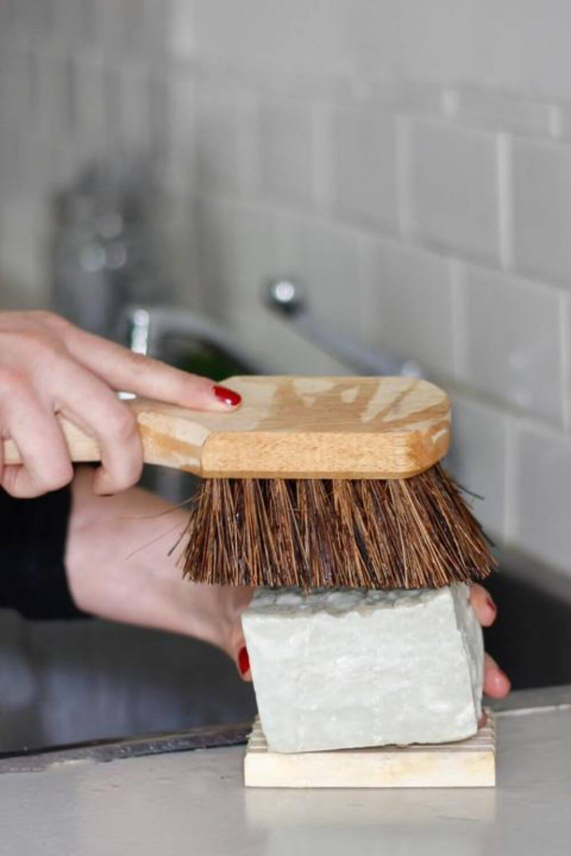 Clean freaks rejoice, zero waste dish soap is one of the easiest zero waste swaps you can make. Image by Bestowed Essentials #zerowastedishsoap #zerowastesoap #zerowaste
