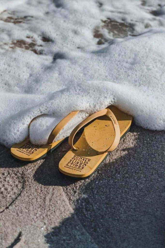 Here, we're talking flip flops folks and any of these vegan, eco friendly and recycled flip flops we've listed here will do the trick if you need to buy new... Image by ECOALF #ecofriendlyflipflops #recycledflipflops #sustainablejungle
