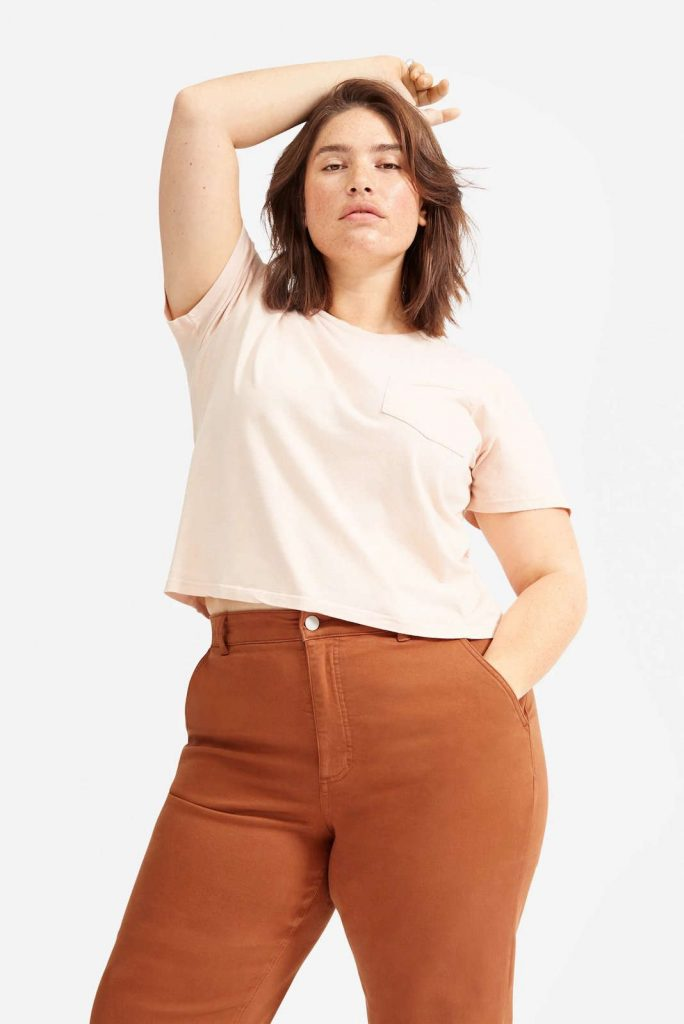 Body-Positive Brands for Sustainable and Ethical Plus Size Clothing Image by Everlane #ethicalplussizeclothing #sustainableplussizeclothing #sustainablejungle