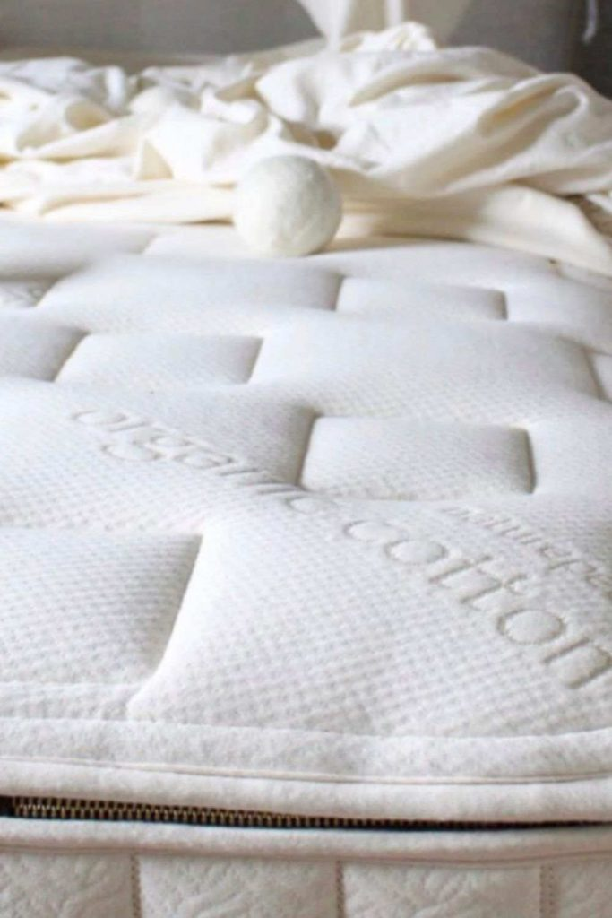 Stop Counting Sheep with a Sustainable Mattress from Eco Friendly Brands Image by Naturepedic #sustainablemattress #ecofriendlymattress #sustainablejungle