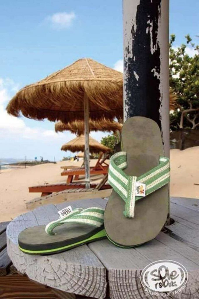 Here, we're talking flip flops folks and any of these vegan, eco friendly and recycled flip flops we've listed here will do the trick if you need to buy new... Image by Sole Rebels #ecofriendlyflipflops #recycledflipflops #sustainablejungle