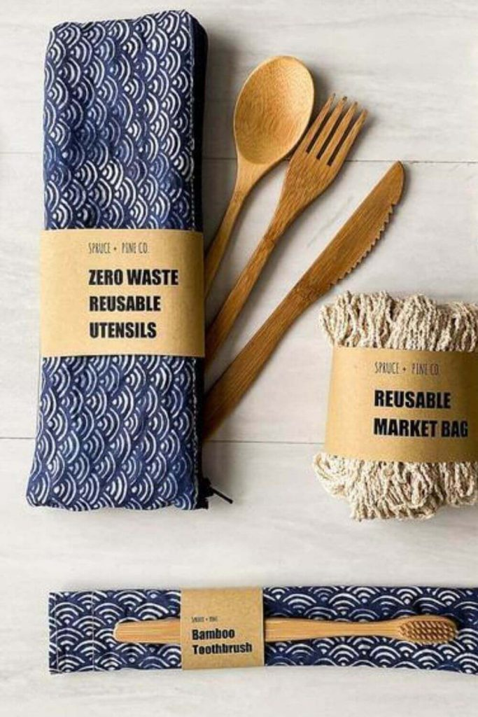 And a good place to start living the life of less waste is a zero waste kit Image by Spruce And Pine Co on Etsy #zerowastekit #Zerowasteeverydaykit #sustainablejungle