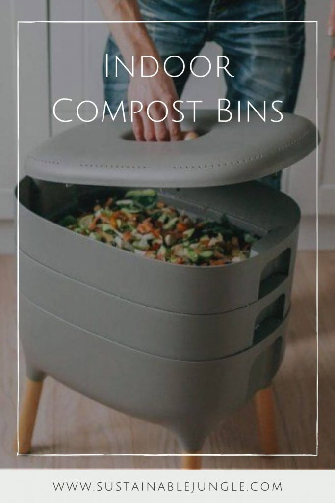 Using a kitchen compost bin or indoor compost bin can change your life and put you on the path to sustainable living. Sounds dramatic, we know. But seriously. It can... Image by Plastia (Urbalife) #indoorcompostbins #sustainablejungle