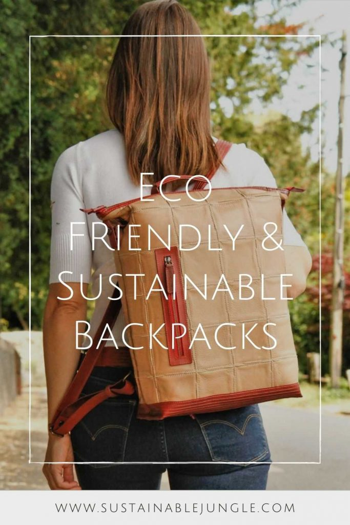 Eco friendly and sustainable backpacks can help us pack up our everyday essentials and leave our eco woes at home Image by Elvis & Kresse #sustainablebackpacks #ecofriendlybackpacks #sustainablejungle