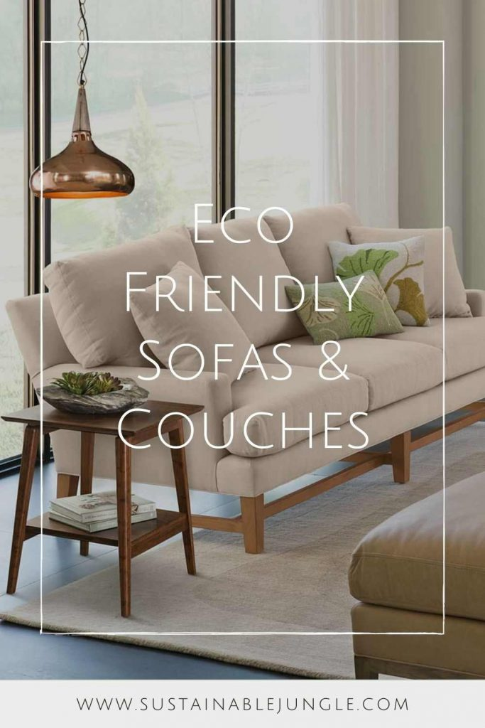 Let us share a few eco friendly sofas with you that will have you feeling better about that GoT binge Image by ABC Home #ecofriendlysofas #ecofriendlycouches #sustainablesofas #sustainablecouches #sustainablejungle