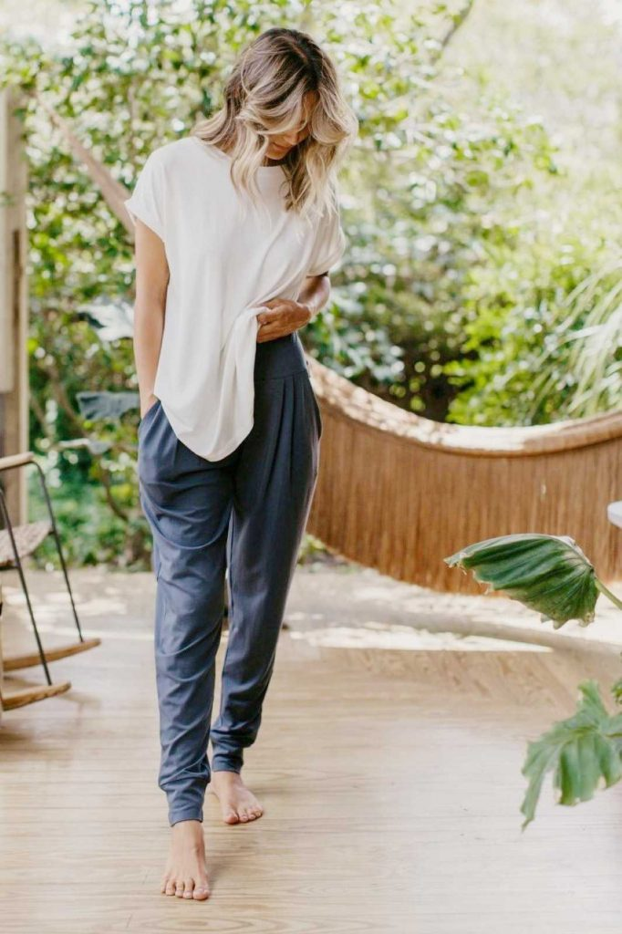 Whether you're switching to a healthier lifestyle (because, yes, apparently some people actually sweat in eco friendly sweatpants) or you simply want something comfier. Image by Boody #ecofriendlysweatpants #sustainablesweatpants #sustainablejungle