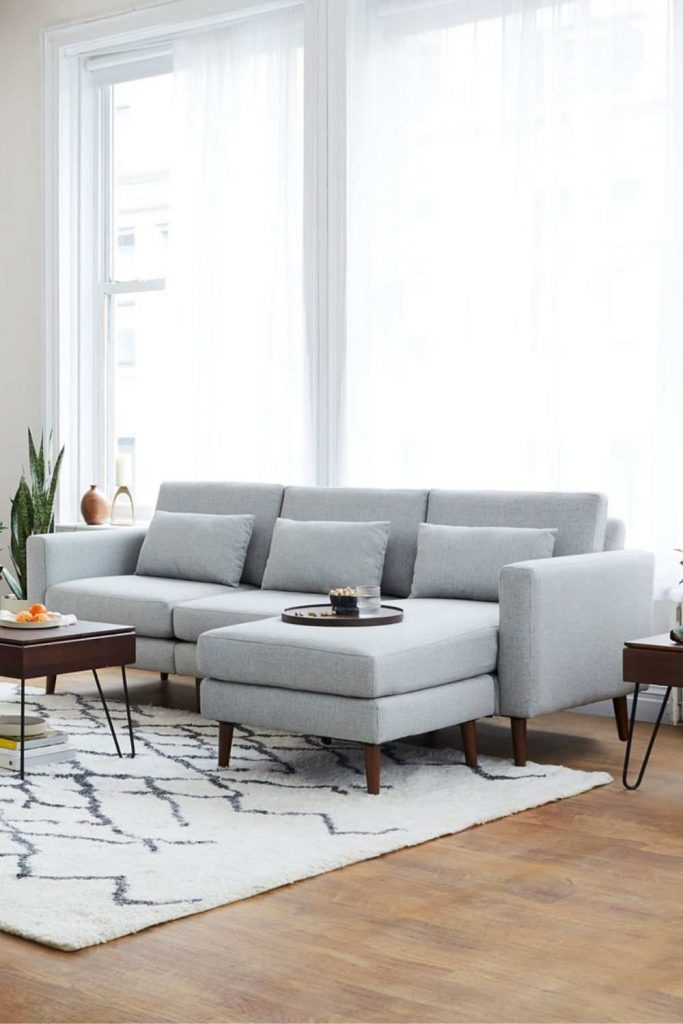 Let us share a few eco friendly sofas with you that will have you feeling better about that GoT binge Image by Burrow #ecofriendlysofas #ecofriendlycouches #sustainablesofas #sustainablecouches #sustainablejungle