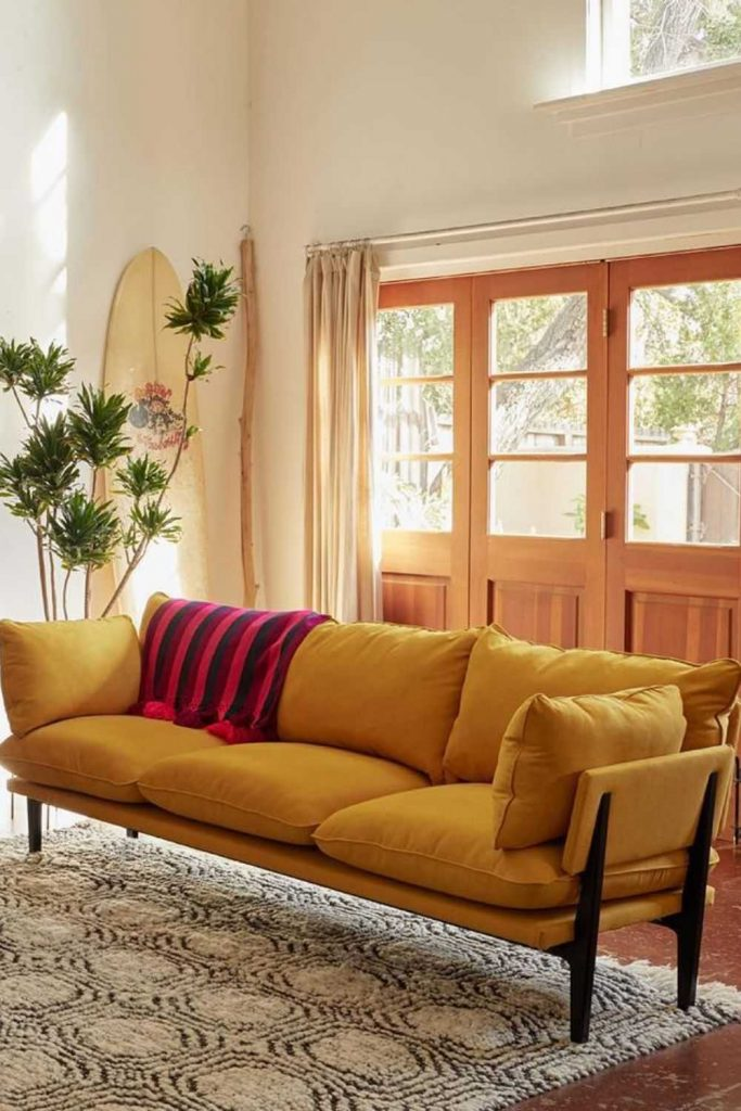 Let us share a few eco friendly sofas with you that will have you feeling better about that GoT binge Image by Floyd #ecofriendlysofas #ecofriendlycouches #sustainablesofas #sustainablecouches #sustainablejungle