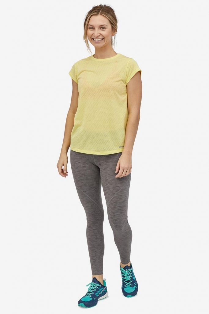 Is there any item of clothing that's as ubiquitous and un-live-without-able as leggings? Casual or dressy; active or leisure; winter or summer—ethical leggings are (almost) always a good choice. Image by Patagonia #ethicalleggings #sustainableleggings  #environmentallyfriendlyleggings #sustainablejungle