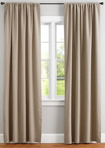Let's block out that bright morning sun and explore some of our favorite organic and eco friendly curtains Image by Pottery Barn #organiclinencurtains #ecofriendlycurtains #sustainablejungle