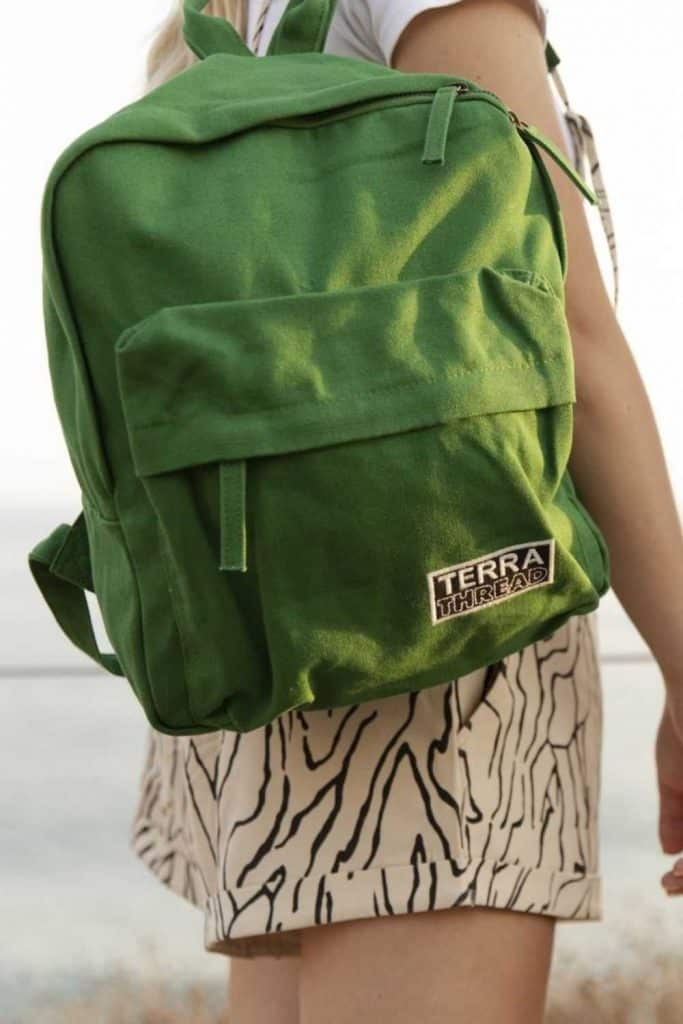 Eco friendly and sustainable backpacks can help us pack up our everyday essentials and leave our eco woes at home Image by Terra Thread #sustainablebackpacks #ecofriendlybackpacks #sustainablejungle
