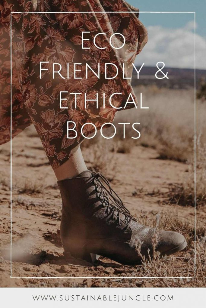 With winter approaching (depending on the hemisphere or the GoT season you're watching), there's no better time to start considering our (literal) environmental footprint and making eco friendly and ethical boots a winter wardrobe priority. Image by Christy Dawn #ethicalboots #ecofriendlyboots #sustainablejungle