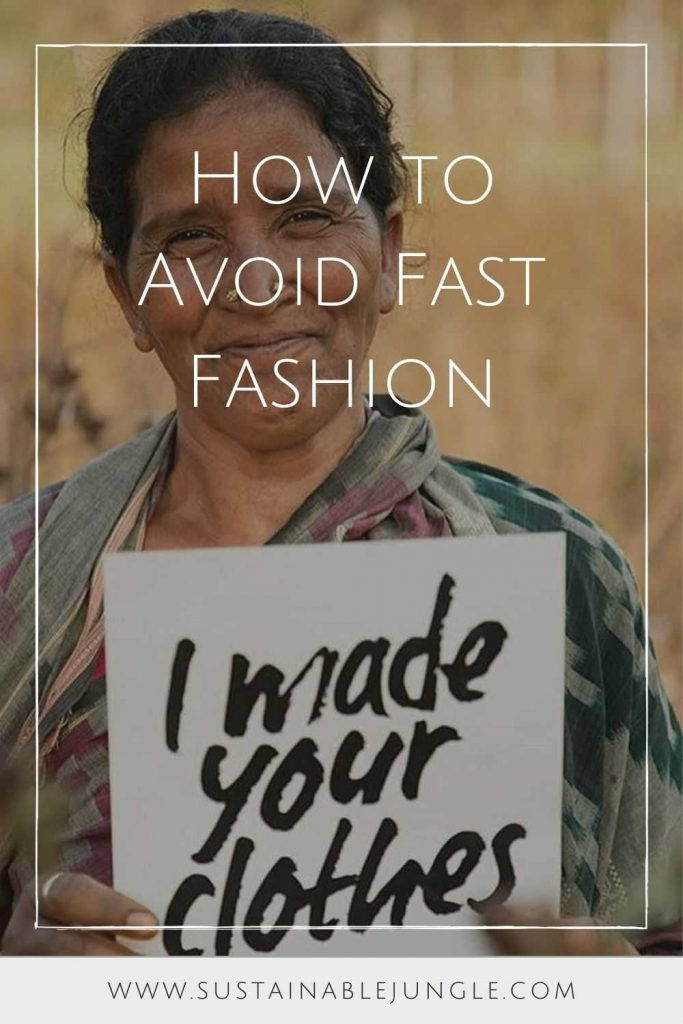 """We may love cheap price tags; but, you know what they say, you get what you pay for. Or as Lucy Siegle writes, """"Fast fashion is free. Someone somewhere is paying."""" Image by Fashion Revolution #howtoavoidfastfashion #fastfashion #sustainablejungle"""