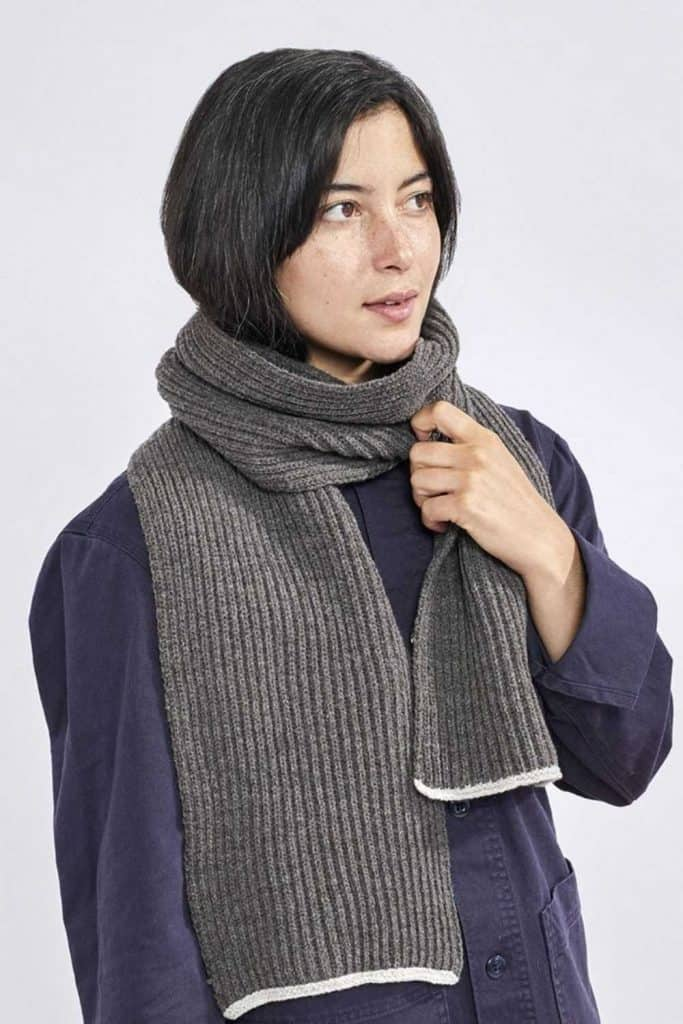 For winter fashionistas, a warm and cozy scarf (almost) completes the picture. A fair trade scarf, however, really ticks all the boxes. Image by Coyuchi #fairtradescarves #sustainablescarves #ecofriendlyscarves #sustainablejungle