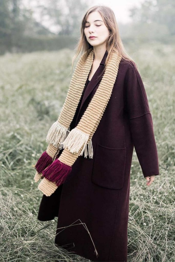 For winter fashionistas, a warm and cozy scarf (almost) completes the picture. A fair trade scarf, however, really ticks all the boxes. Image by Ocelot Market #fairtradescarves #sustainablescarves #ecofriendlyscarves #sustainablejungle
