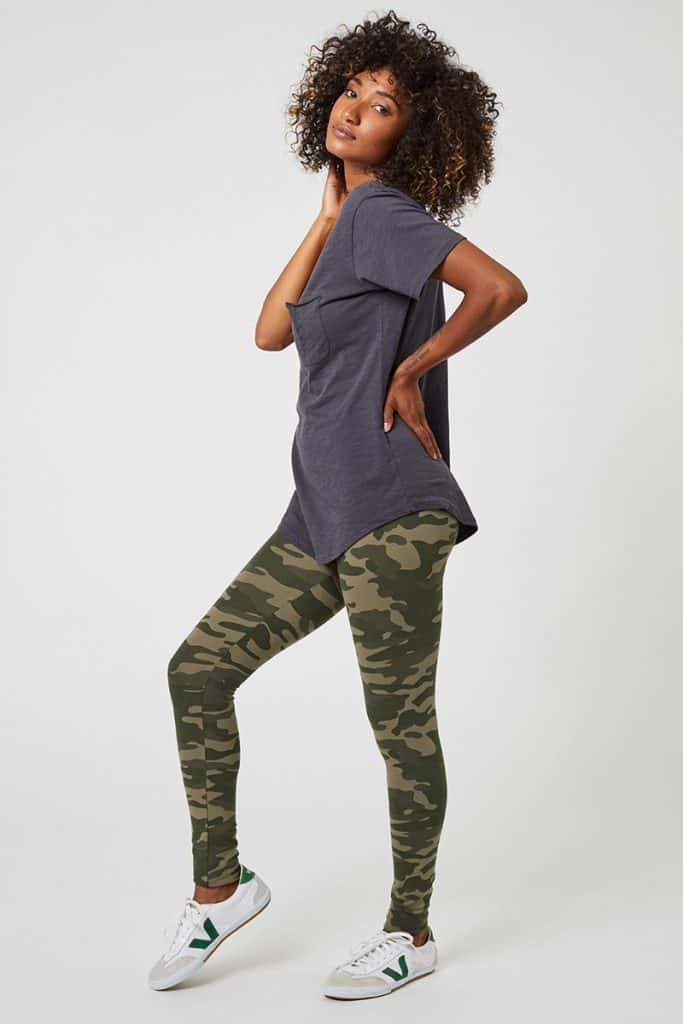 Is there any item of clothing that's as ubiquitous and un-live-without-able as leggings? Casual or dressy; active or leisure; winter or summer— ethical leggings are (almost) always a good choice. Image by Pact #ethicalleggings #sustainableleggings #environmentallyfriendlyleggings #sustainablejungle