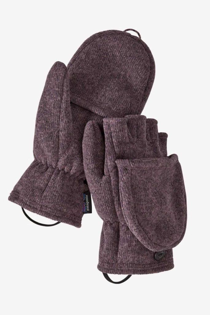 Ironically, climate change could lead to another ice age, so unsustainable glove choices today may be self-defeating tomorrow, so opt for ethical winter gloves instead. Image by Patagonia #sustainablewintergloves #ethicalwintergloves #sustainablejungle