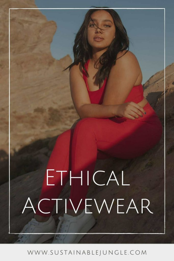 We love staying fit and active, but we hate the use of unsustainable materials and unethical manufacturing in the world of fast fashion. So we found a selection of sustainable activewear brands that are redefining workout clothing. Image by Wolven #ethicalactivewear #ethicalactivewearbrands #sustainableactivewear #ethicalworkoutclothing #sustainableworkoutclothing #sustainablejungle